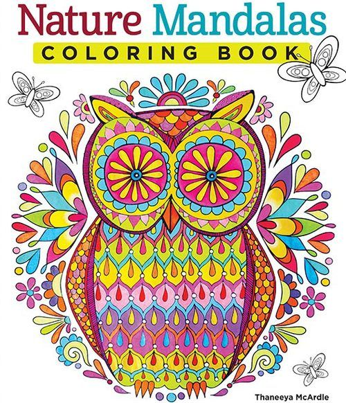 Nature Mandalas Owl by Thaneeya | Coloring Pages Art & Printables ...