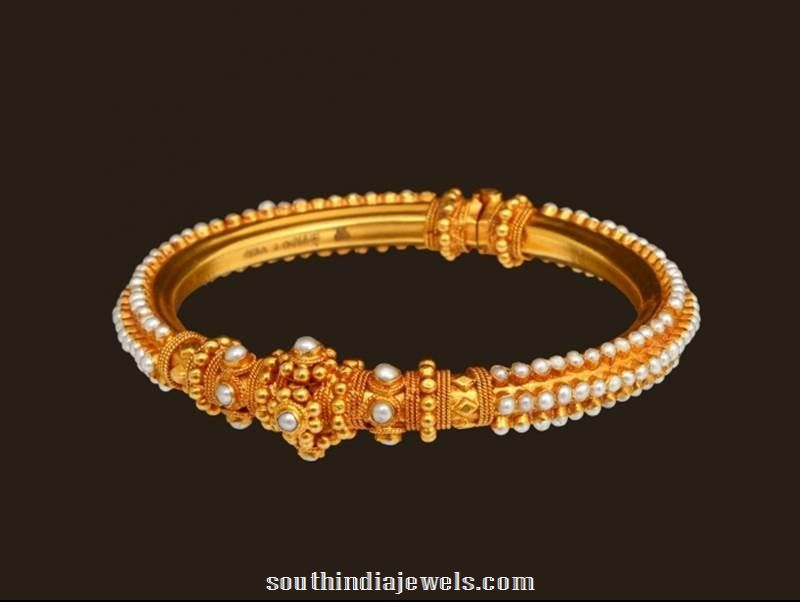 36d84452c 22K Gold Pearl Bangle Design | Jewelry | Bangles, Gold pearl, Gold