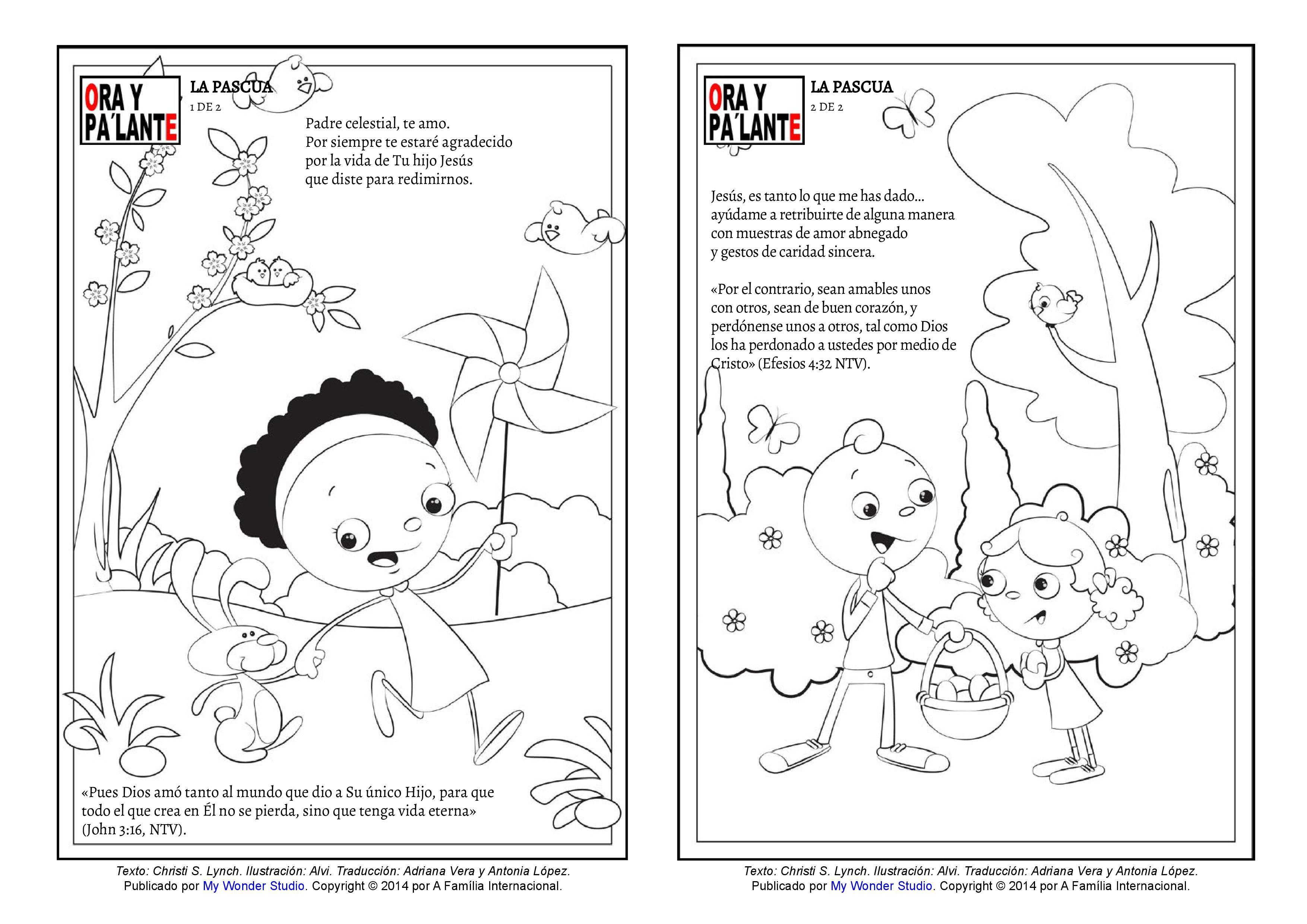 Paginas para pintar para Pascua | Historias y actividades gratis de ...