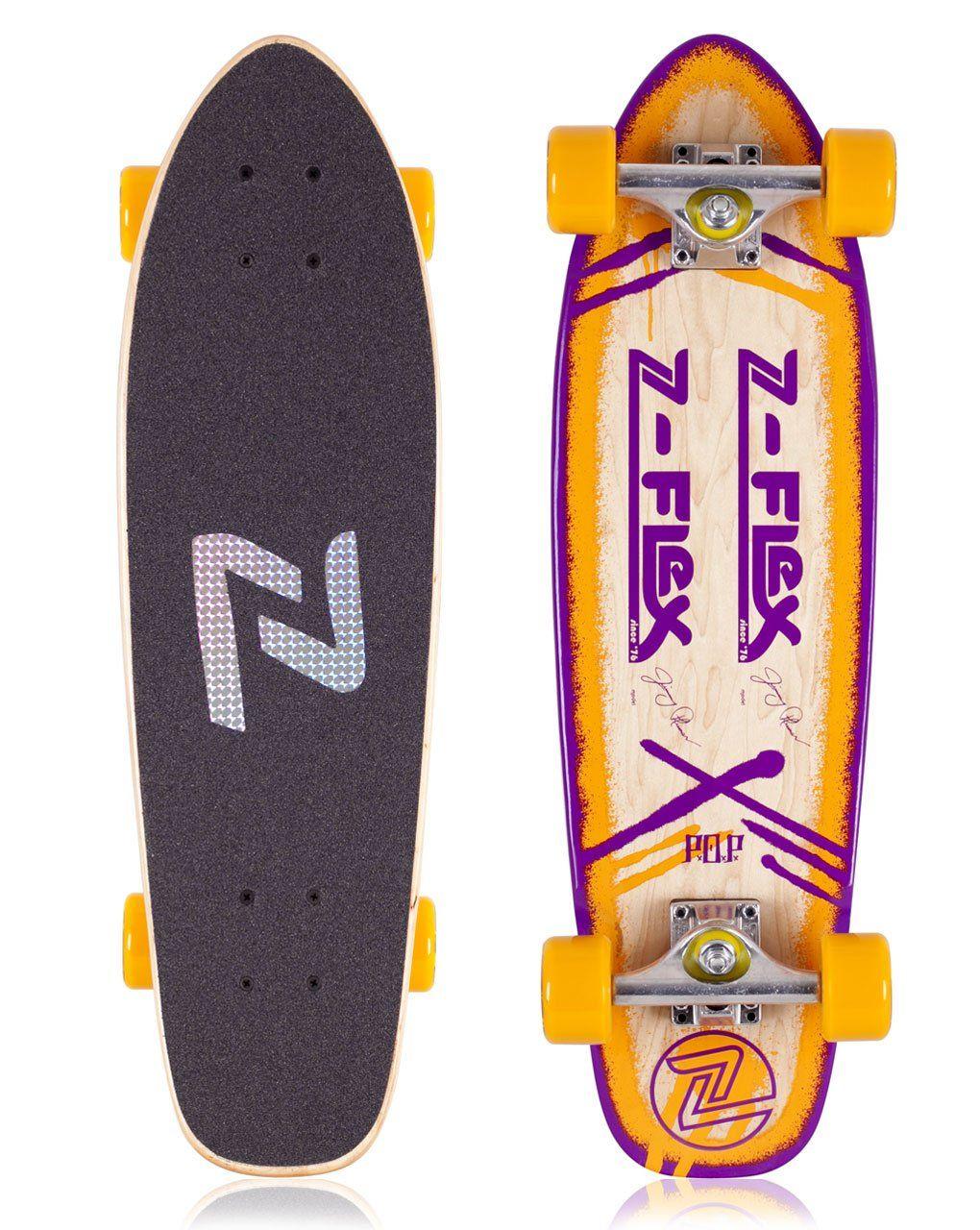 Z Flex Jimmy Plumer 27 75 X 7 75 Cruiser Skateboard Complete P O P Orange Deck Construction 7 Ply Canadian Roc Skateboard Cruiser Skateboards Skateboards