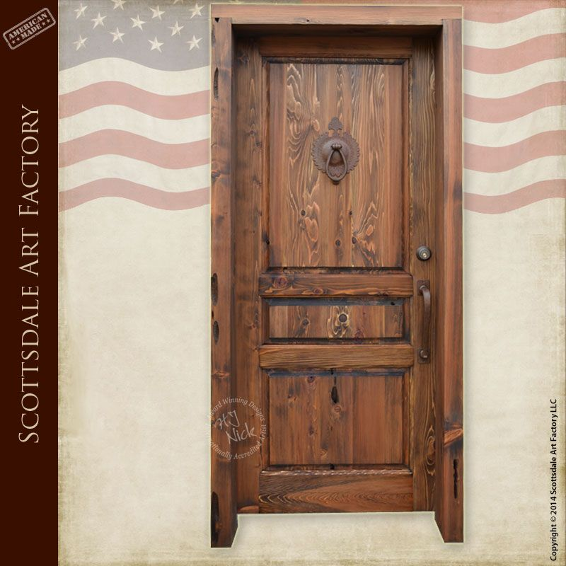 Custom Wooden Door Hand Crafted By Master Level Artisans At Scottsdale Art  Factory Using Solid Full Length Wood Constructed Using Mortise And Tenon  Joinery.