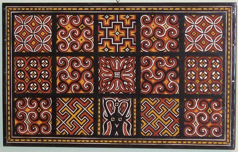 Sulawesi Toraja wood carving each panel symbolizes goodwill