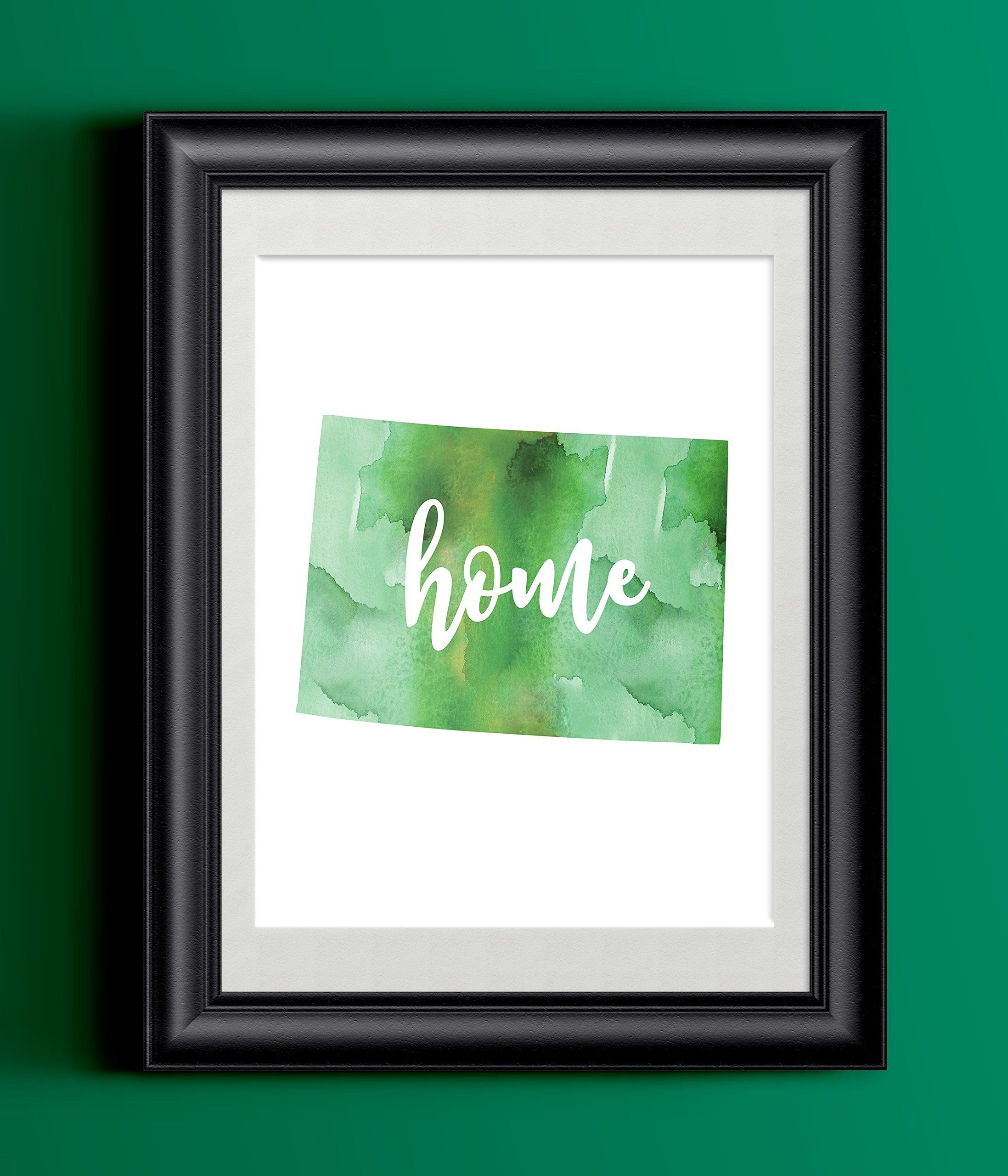 Colorado Home Watercolor Print   State Home Print   Wall Decor. This gorgeous watercolor Colorado home print is printed on 8.5 x 11 110 lb cardstock with high quality archival inks to insure this gorgeous print never fades *Please note: These prints are on 8.5x11 110lb cardstock, and are not designed to be trimmed down for an 8x10 frame. If you wish to frame them, you will need an actual 8.5x11 frame.*.