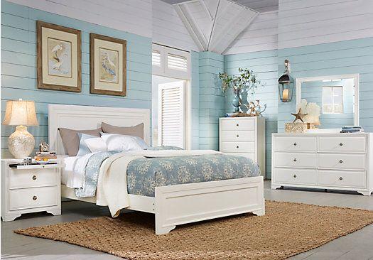 Belcourt White 5 Pc King Panel Bedroom