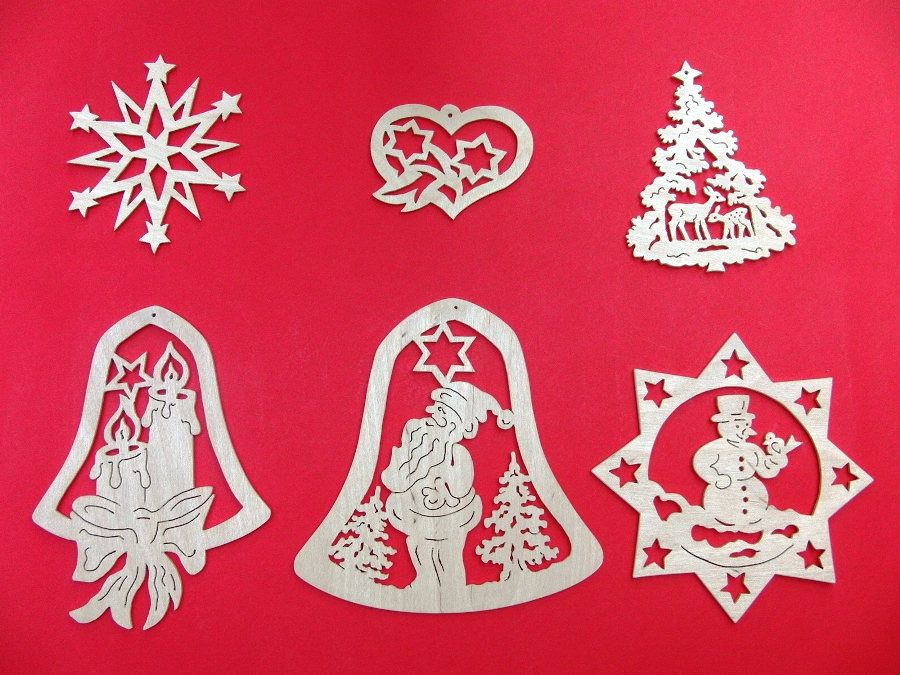 german handmade fretwork christmas ornaments window pictures - German Handmade Wooden Christmas Decorations