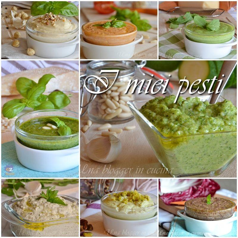 I miei pesti, una raccolta di ricette in pdf di pesti con verdura, frutta secca, pomodori, pinoli, tradizionali e innovativi. Condimenti per pasta.