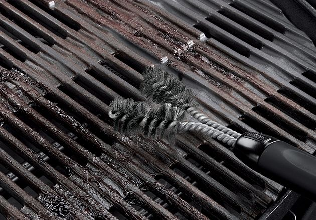 weber - accessories - clean - weber cast-iron grill brush (part