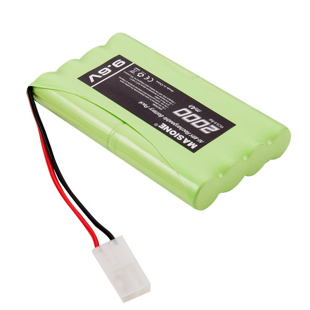 Masione 9 6v 2000mah Rechargeable Nimh Battery Pack With Tamiya Connector For Rc Cars Airplanes Robots Coaster Click Im Rc Helicopter Xbox One Game Console