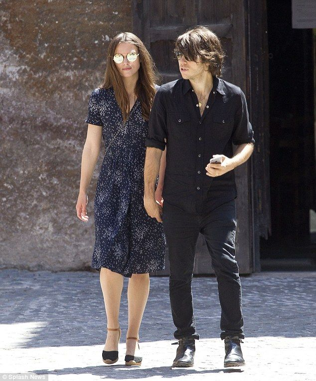 On the tourist trail: Actress Keira Knightley and her rocker husband James Righton visit t...