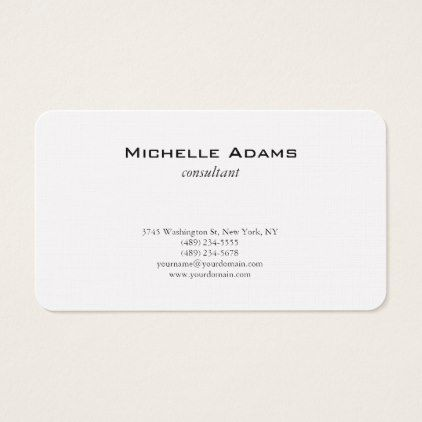 Luxury premium linen black white plain minimalist business card luxury premium linen black white plain minimalist business card modern gifts cyo gift ideas personalize reheart Image collections