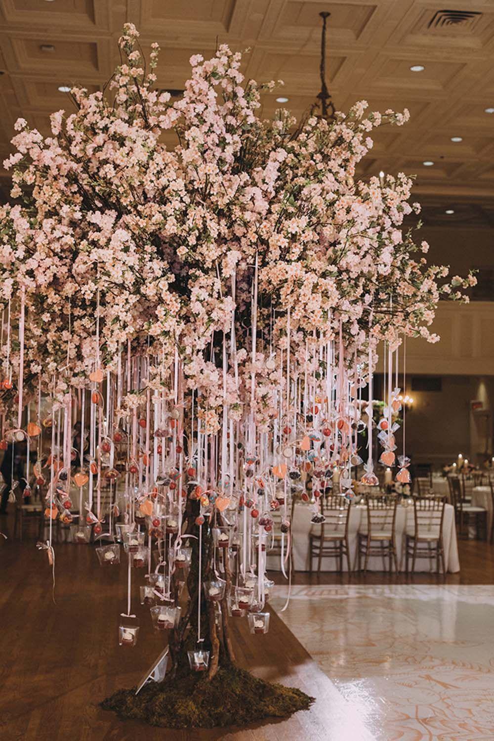 Castle Beautiful Fairytale Wedding Ceremony Blossom Tree Wedding Cherry Blossom Wedding Cherry Blossom Theme