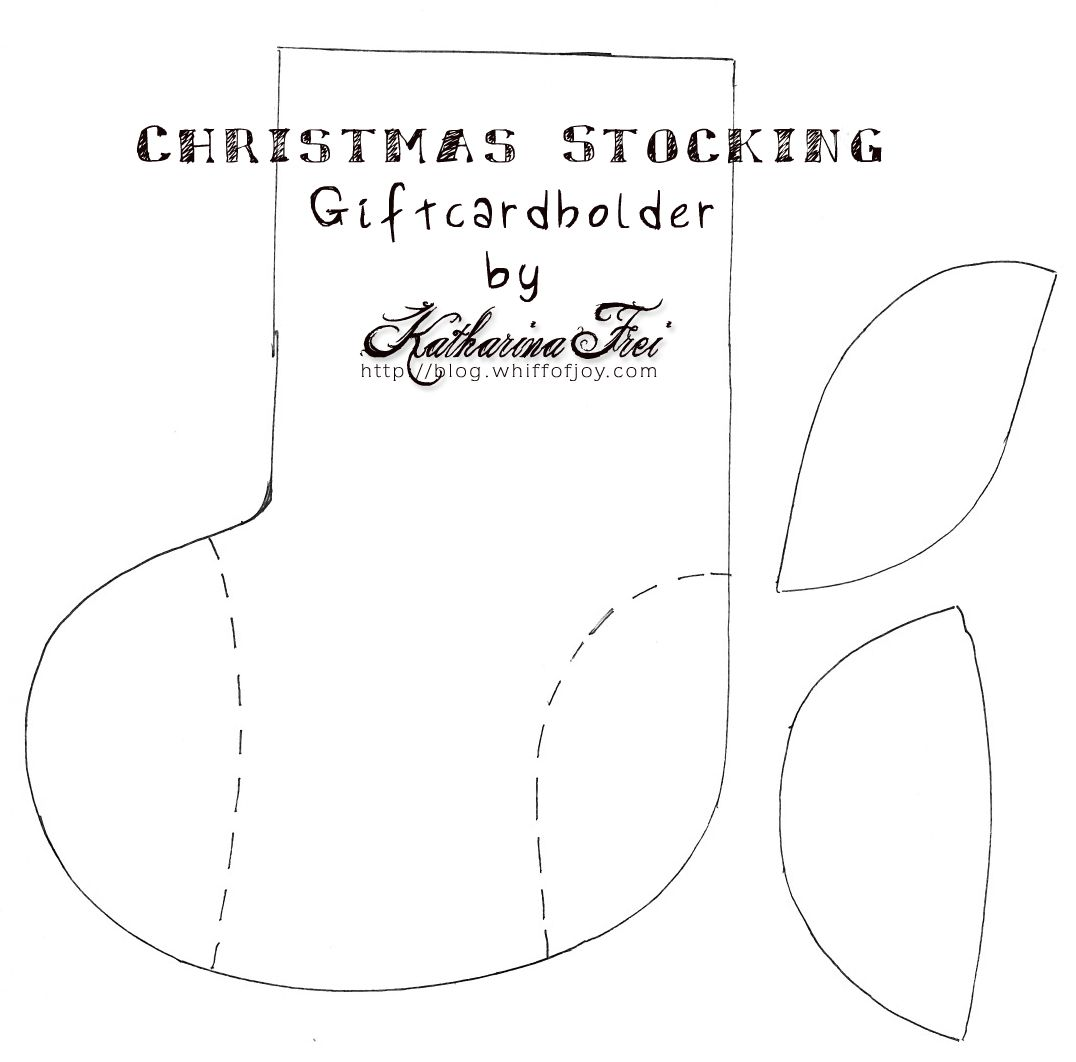 Christmasstocking Card And Tute Printable Templates Pinterest