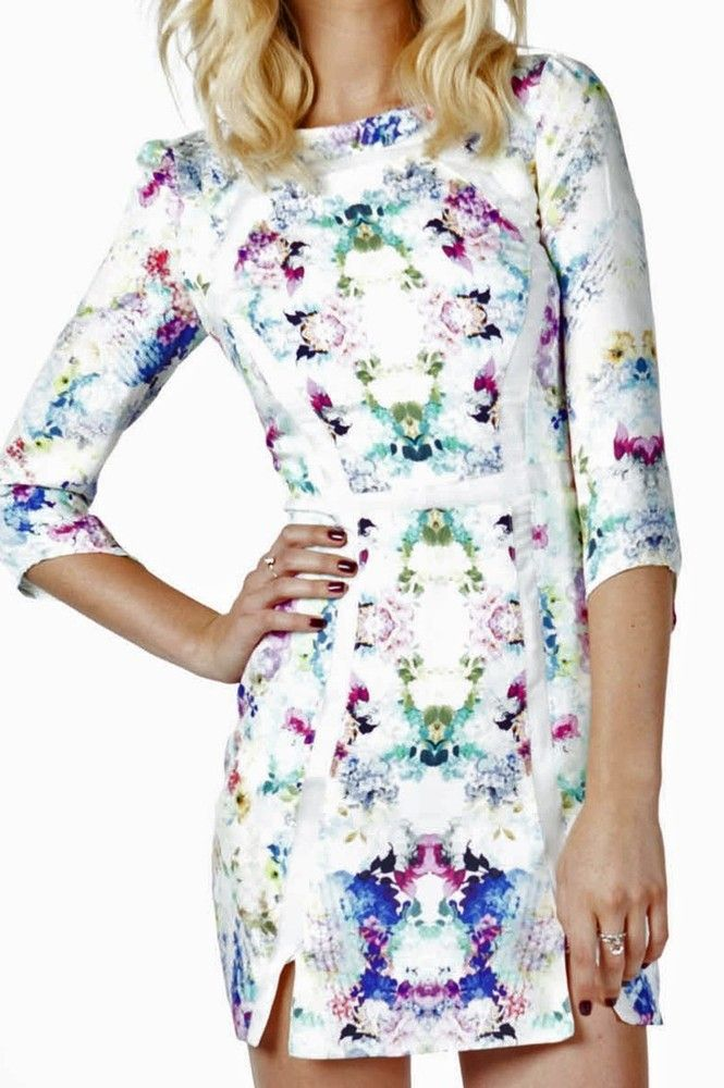 Finders keepers madhouse long sleeve dress white