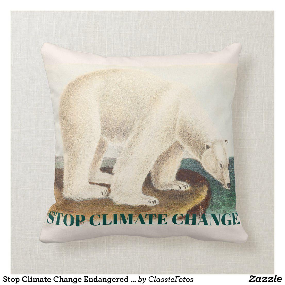 Stop Climate Change Endangered Arctic Polar Bear Throw