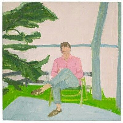 Alex Katz; Peter Humphrey, 1960, oil on linen, 49 x 49 inches