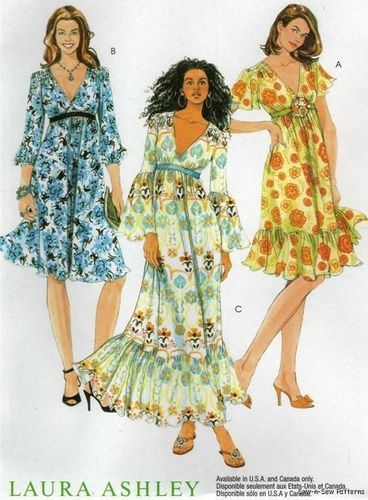 7434613de07 McCalls 5805 UNCUT PATTERN Cute LAURA ASHLEY Spring Summer Sun Dress 16-20