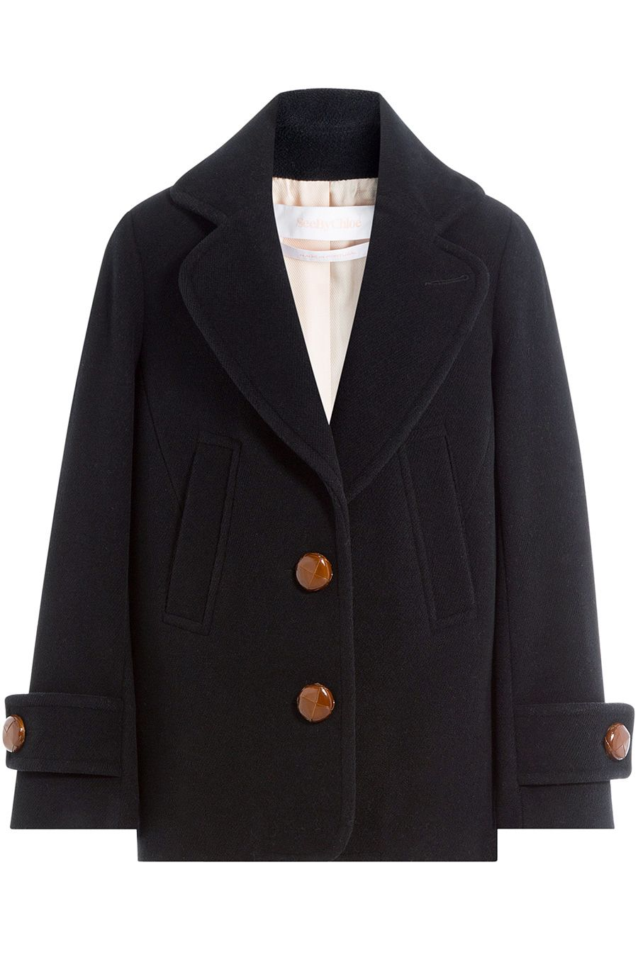 9ad1d230804cf SEE BY CHLOÉ Coat With Oversized Buttons. #seebychloé #cloth #short coat