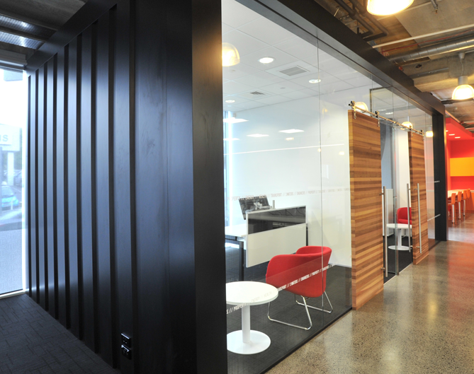 Woods spaceworks office fit out auckland breakout spaces