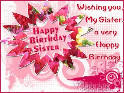 Birthday Cards For Facebook Happy Birthday Sister Greeting Cards
