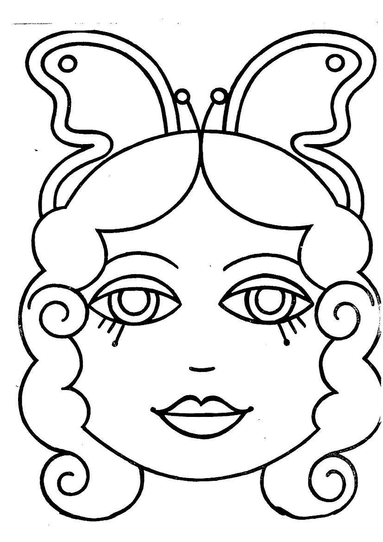 Caretas para imprimir y colorear  Dibujos para colorear  IMAGIXS