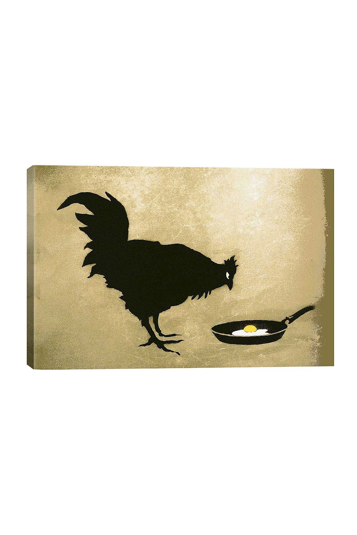 Chicken and Egg by Banksy Canvas Print | All Things Rooster ...