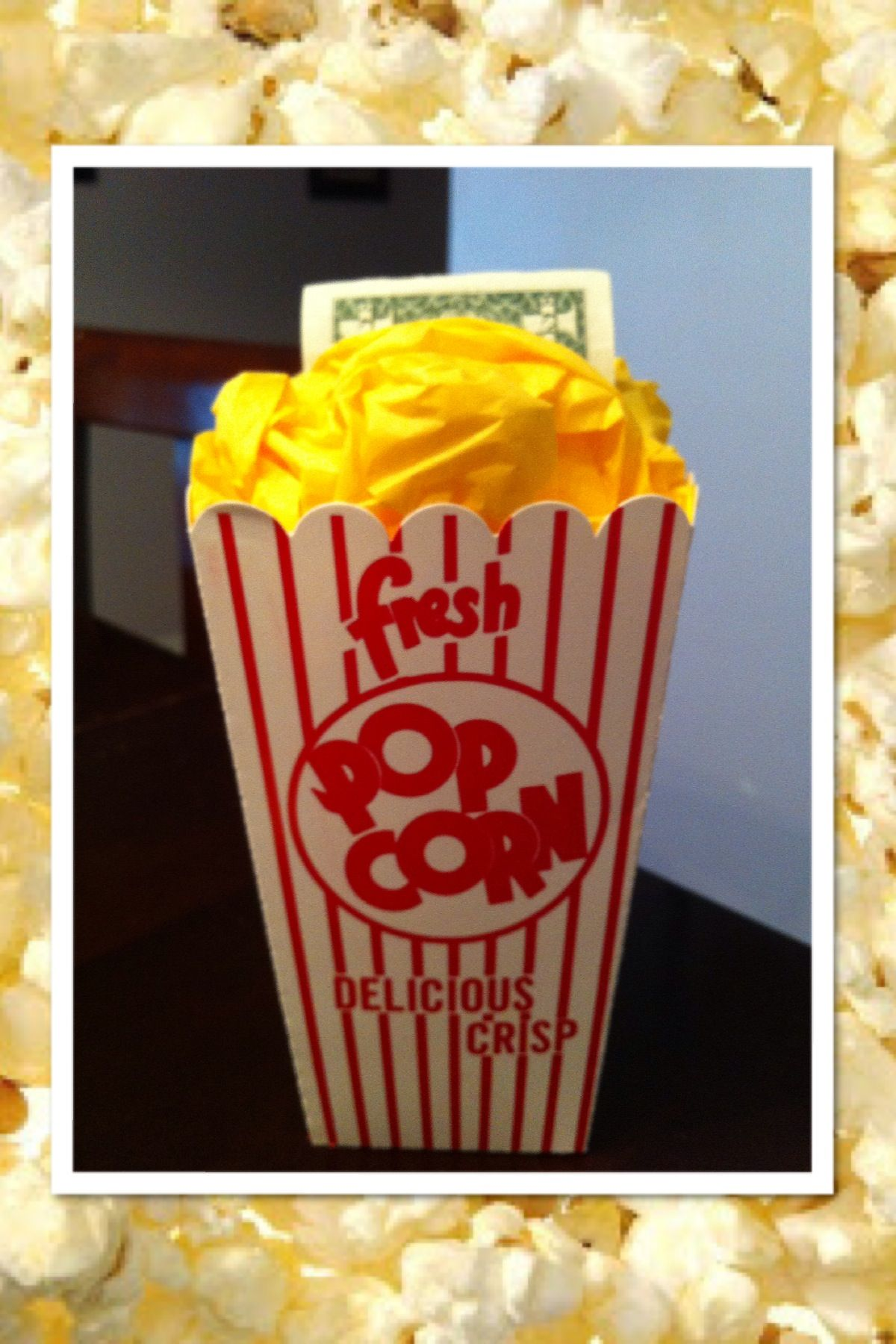 Great way to give movie tickets and popcorn money