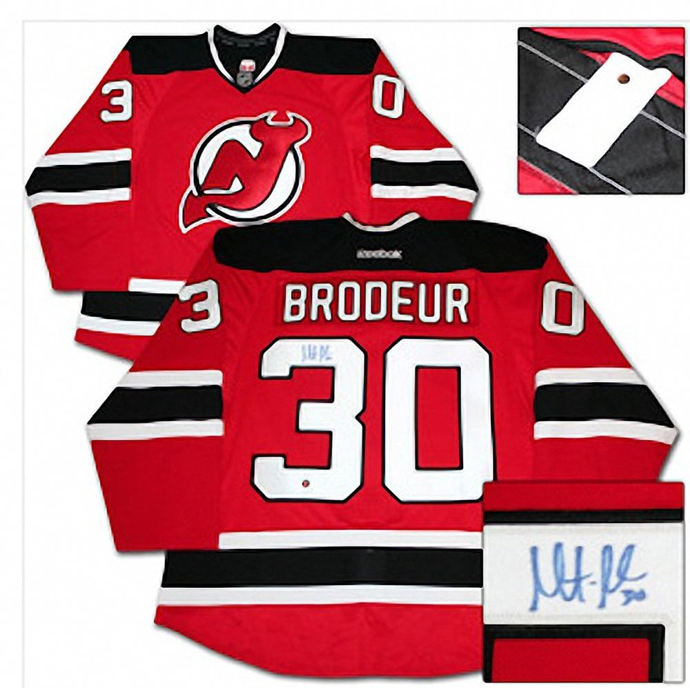 pretty nice 6eca6 1a42c Details about Devils Martin Brodeur Authentic Signed Red ...