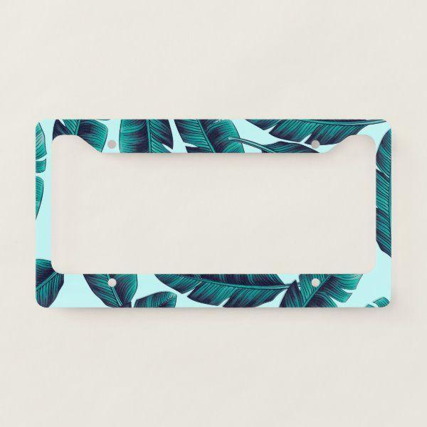 Tropical Pattern License Plate Frame | Zazzle.com