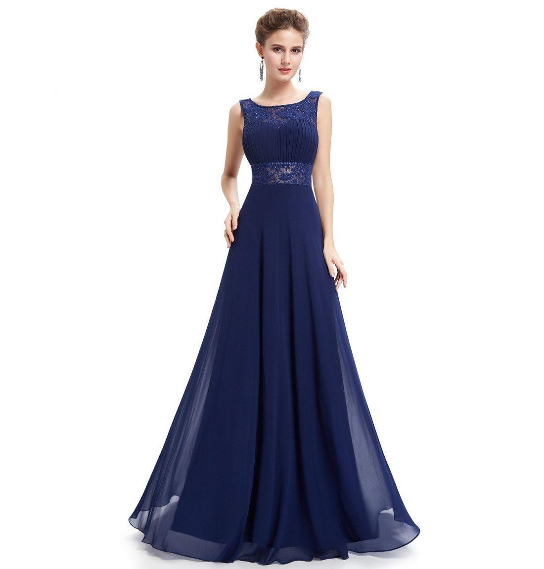 Zauberhaftes A-Linie Abendkleid Dunkelblau  Schöne kleider
