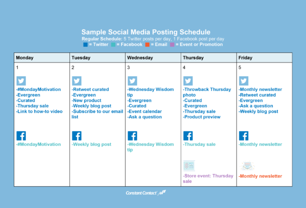 How To Create A Social Media Posting Schedule Pinterest Social - Blog post schedule template