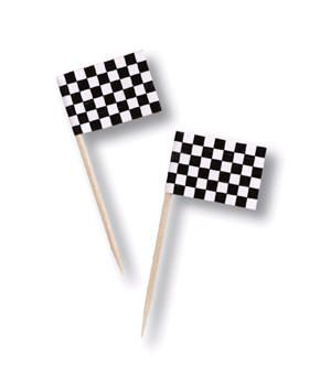 Black and white checkered flag toothpicks perhaps for the snack table and teddy bear chocolate  sc 1 st  Pinterest & Black and white checkered flag toothpicks perhaps for the snack ...