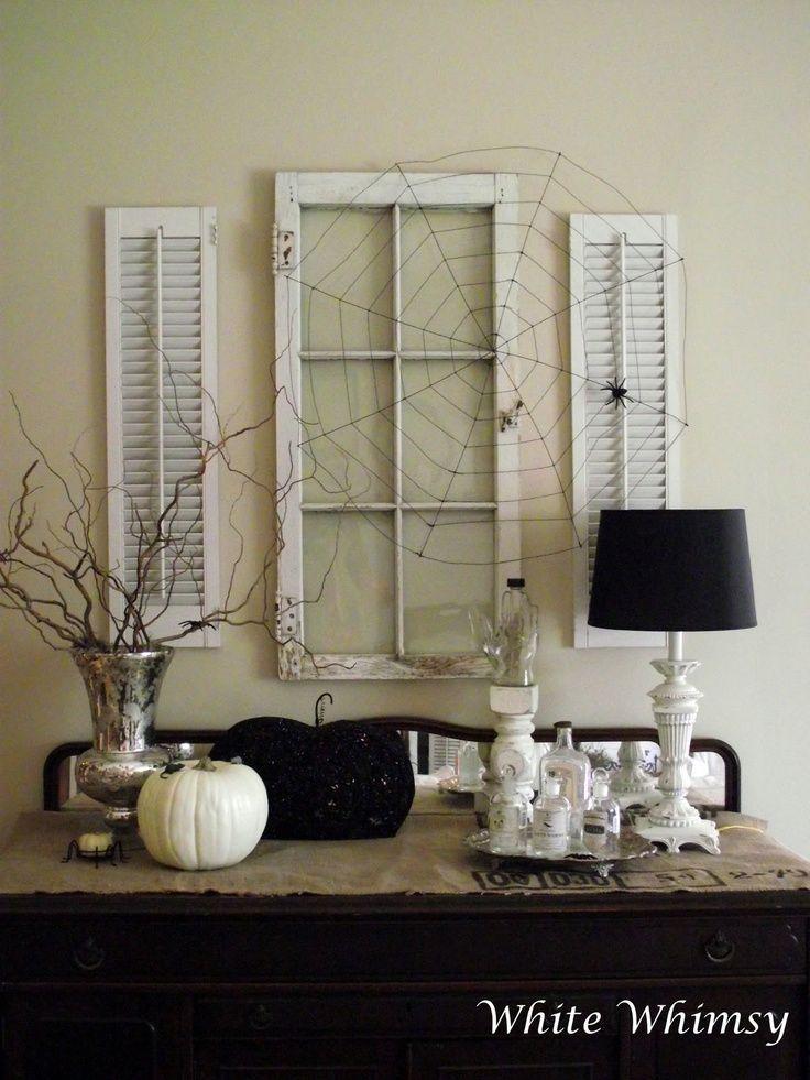 Vintage Window Shutter Decor | Not The Halloween Stuff   Old Window Decor | Old  Window