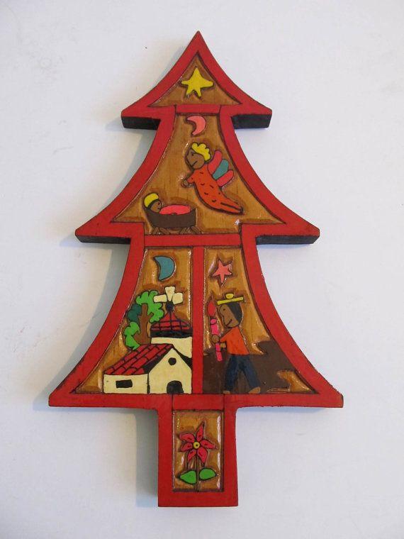 El Salvador, Christmas Decor, Christmas Trees, Religious, Nativity, Angels,  Christian