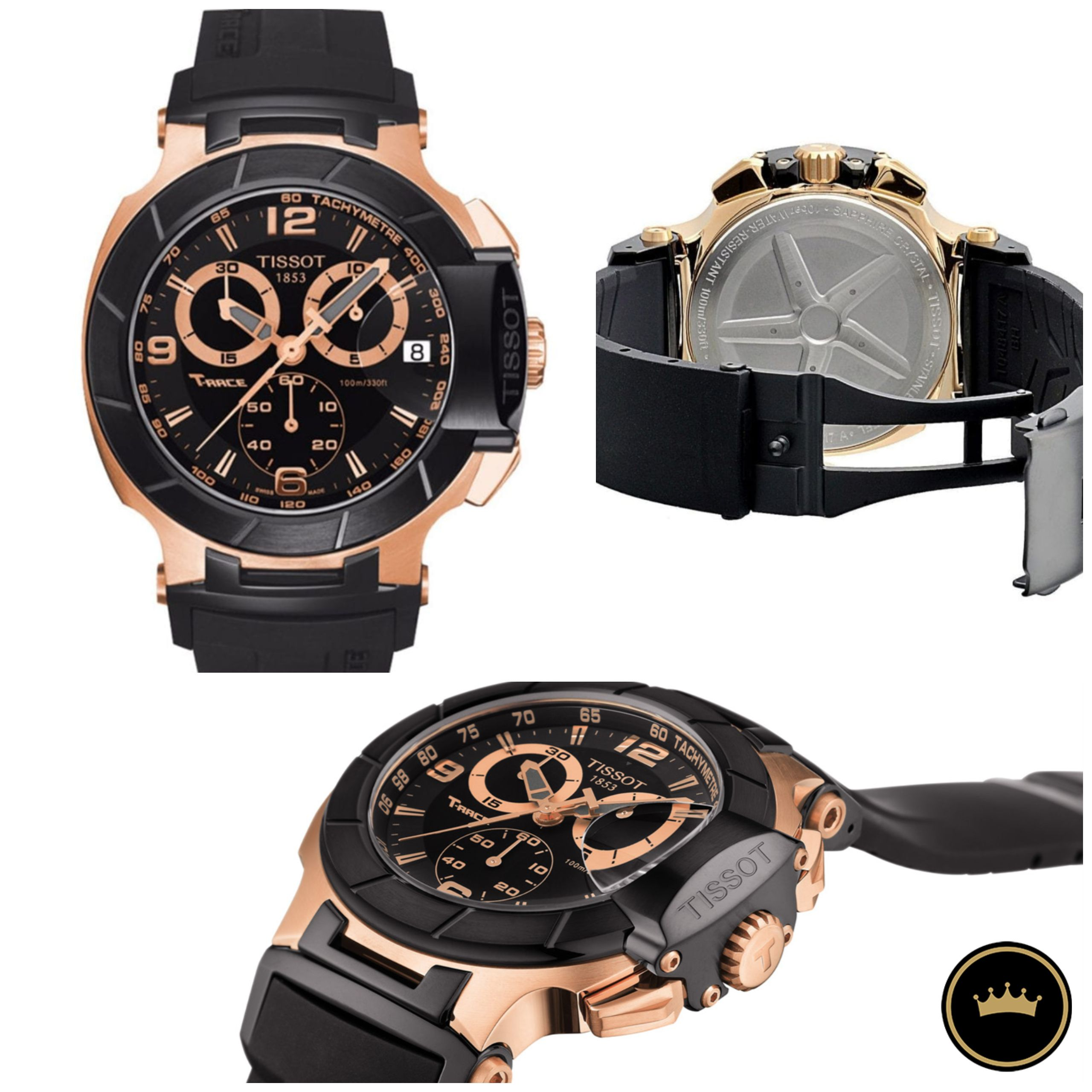 Kanarygifts من سويسرا ساعة تيسو الرياضية تي ريس للشباب بسعر حصري فقط 1279 Feel The Need For Sophisticated Tissot Mens Watch Chronograph Watches For Men