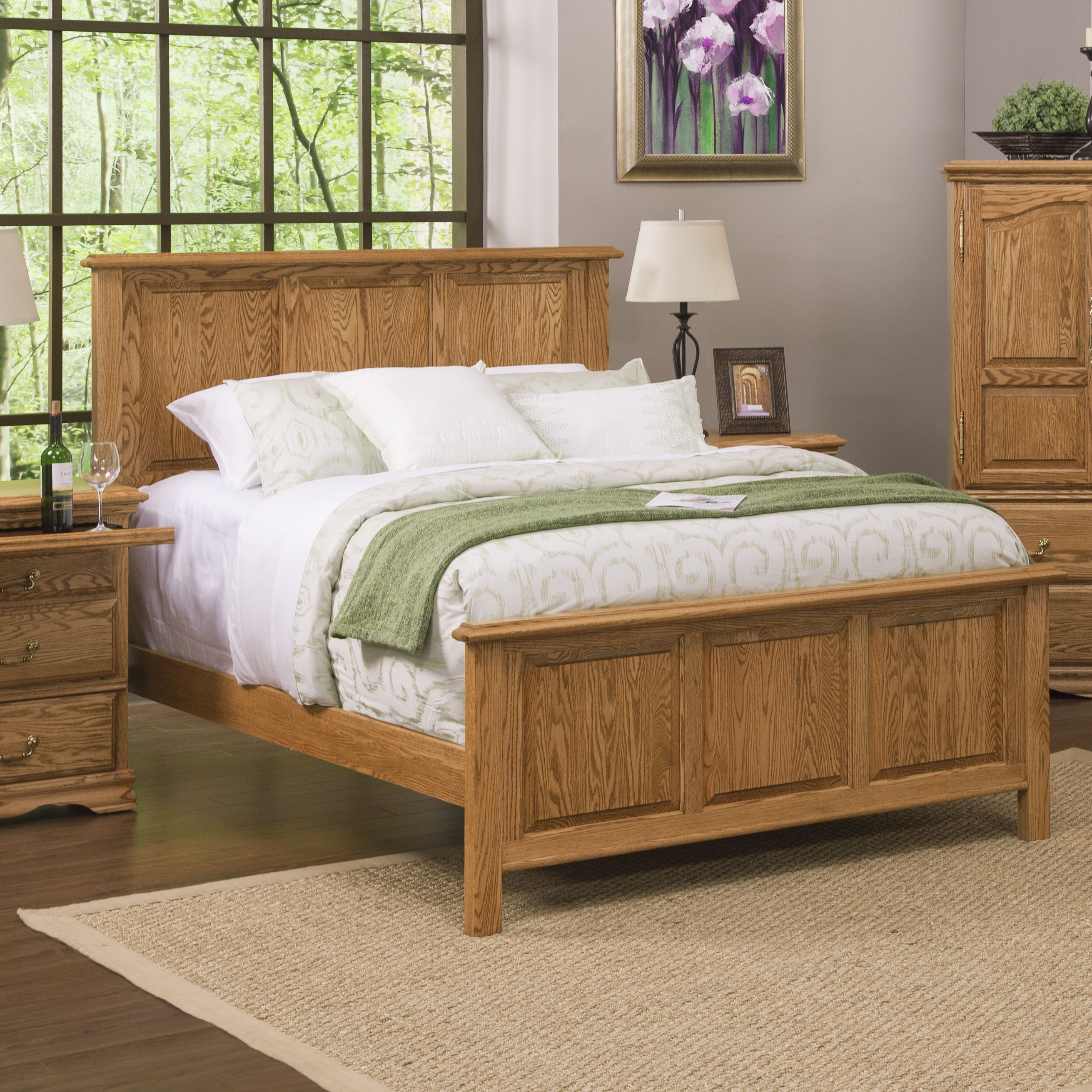 Panel Bed Solid Wood Panel Beds King Queen American Made Furniture Panel Bed Bed