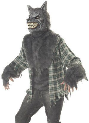 California Costume Collections Polyester Costumes | eBay  sc 1 st  Pinterest & Mens Wolf Man Werewolf Full Moon Halloween Costume | Ashland Theatre ...