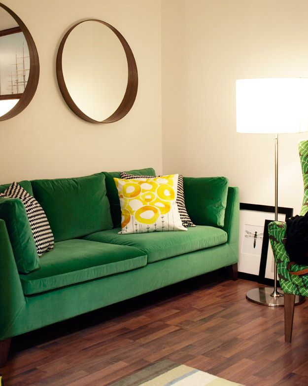 I 39 M Not A Big Fan Of Color But I Kind Of Love This Green Velvet Couch And It 39 S From Ikea