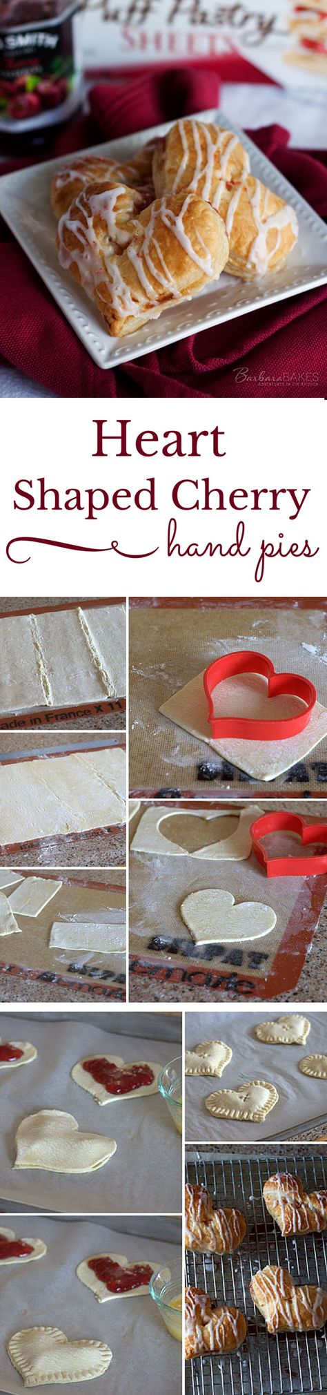 Easy to make heart shaped cherry hand pies.