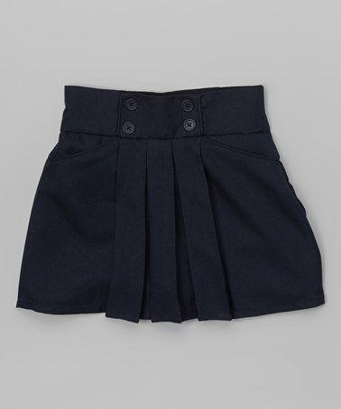Look what I found on #zulily! Navy Button Skort - Girls #zulilyfinds