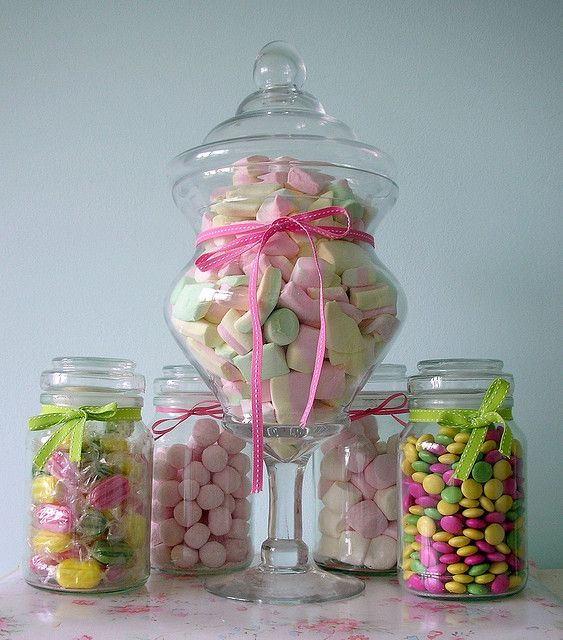 10 x Plastic Sweet Jars Candy Cart Buffet Table~ Bar Mitzvah Weddings Kids Party