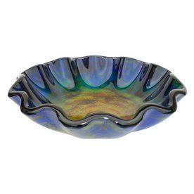 Eden Bath 5-1/4-in D Blue Glass Round Vessel Sink
