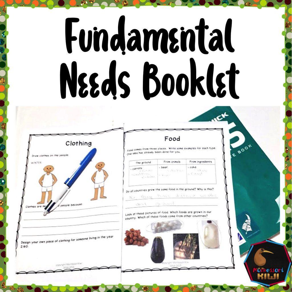 Fundamental Human Needs Student Workbook Montessori