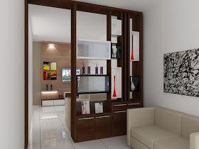 Kitchenset Pelangi Desain Interior Partisi Pembatas Ruang Keluarga Dan Tamu