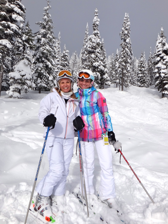 Champagne powder at TheGoToMom.TV's favorite Canadian Ski Resort www.BigWhite.com