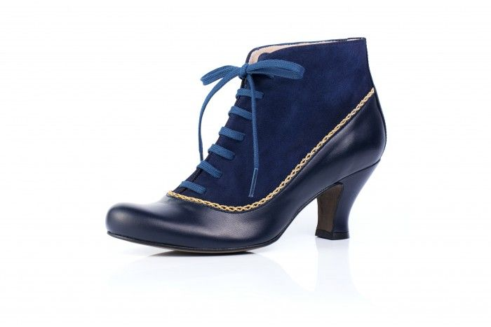 4cde571c Aurora Azul botín estilo Mary Poppins Puntas Teñidas, Uñas Pies,  Profesional, Cordones,