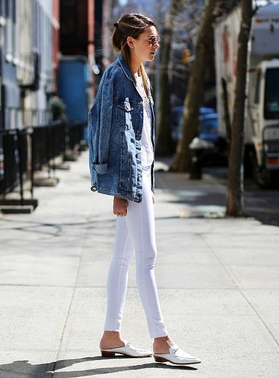 How To Wear Mules Shoes | White mules