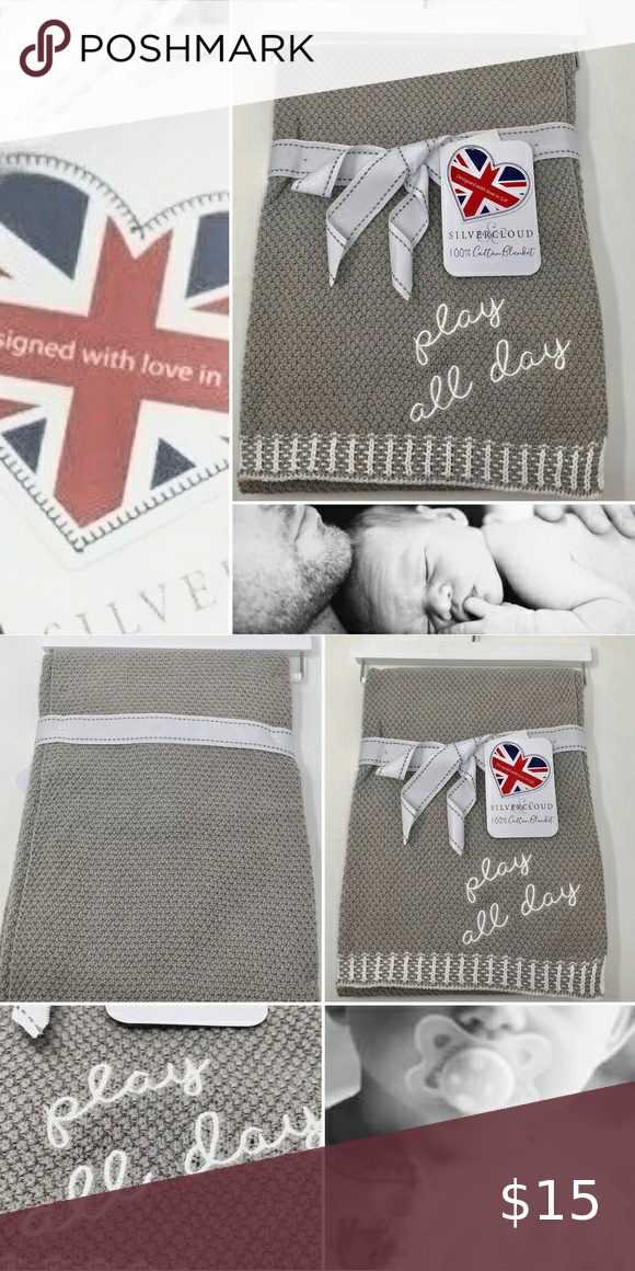 Nwt Silver Cloud Cotton Baby Blanket Play All Day In 2020 Cotton Baby Blankets Cotton Baby Baby Blanket