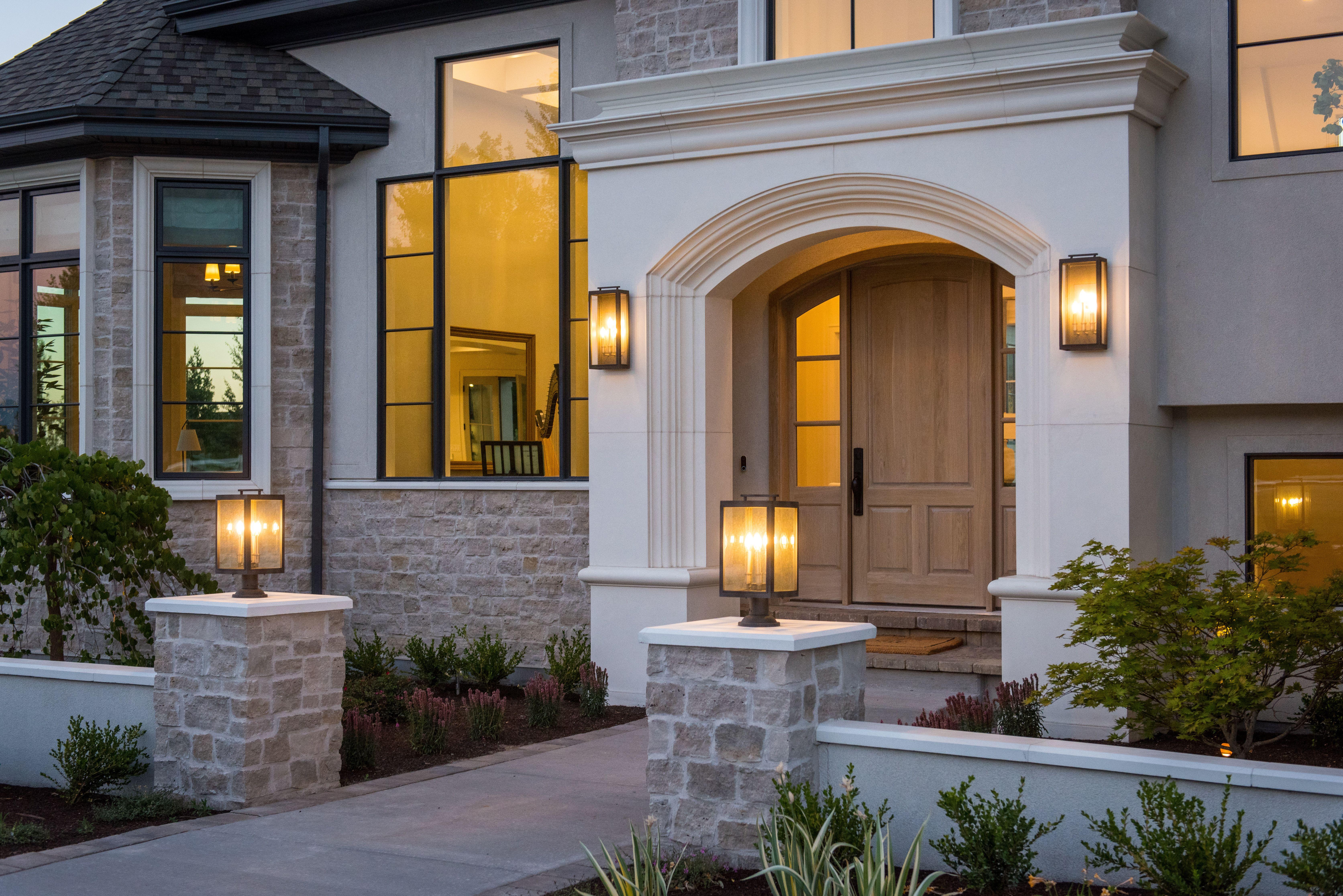 Sunrise Drive - WHITE + GOLD DESIGN | House exterior ...