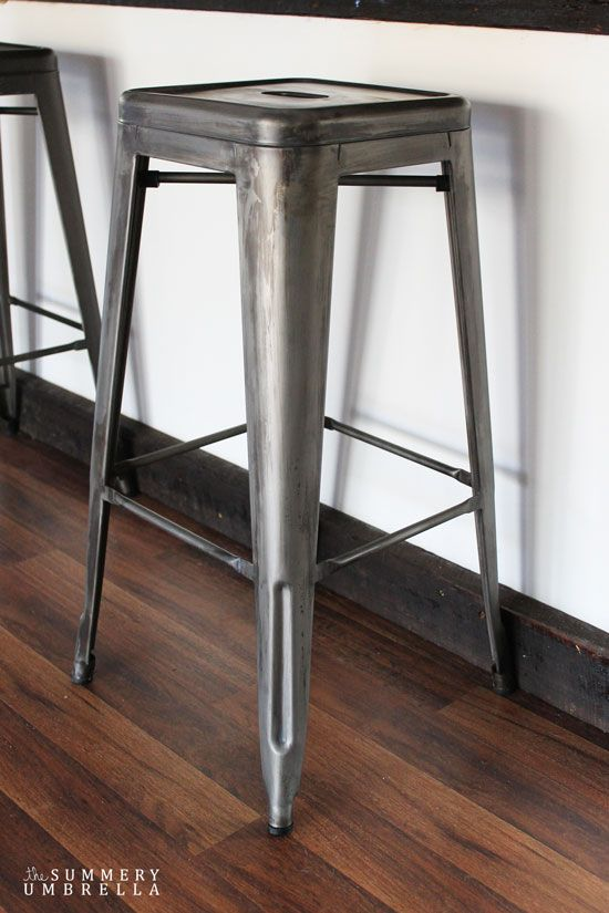 How To Distress Metal Bar Stools The Summery Umbrella Metal