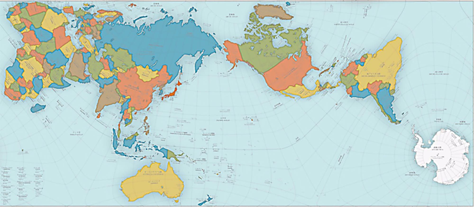 Size Does Matter Authagraph World Map Turns The Earth Into A Rectangle Using Tetrahedrons World Map Design Most Accurate World Map Accurate World Map